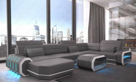 Leather Sectional Sofa Brooklyn U Shape