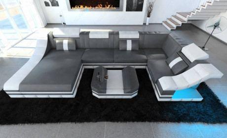 Design Sectional Sofa New York U Shape LED
