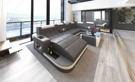 Design Sectional Sofa Jacksonville U Shape LED