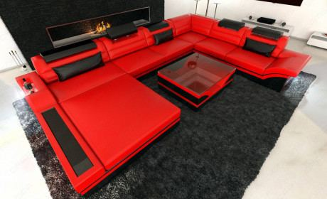 Design Sectional Sofa Orlando XL with LED Lights