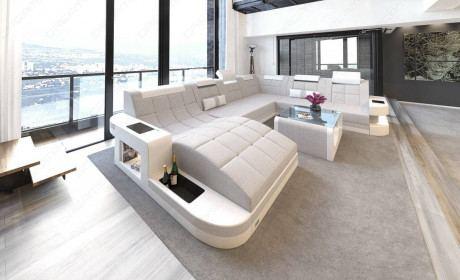 Fabric Sofa Jacksonville XL Shape LED
