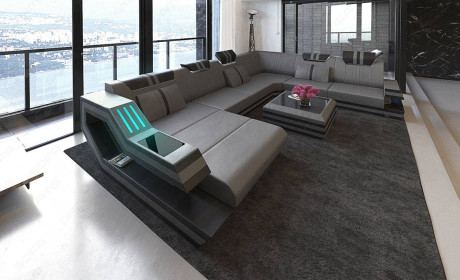 Modern Luxury Leather And Fabric Furniture Store Sofa Dreams
