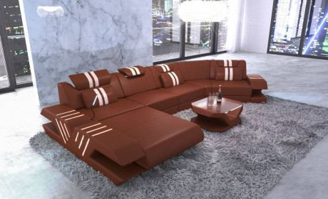 Sectional Sofa Beverly Hills C Shape Leather