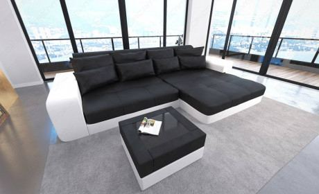 Big Leather Sofa San Diego with LED