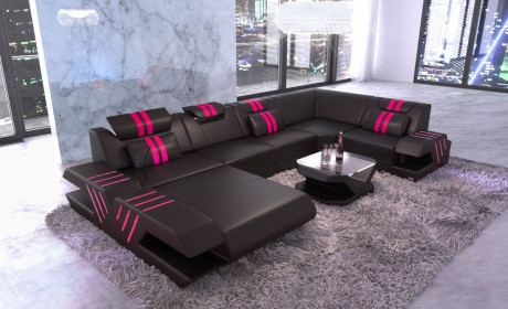 Design Leather Sofa Beverly Hills U Shape