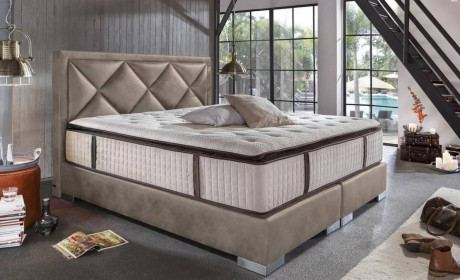 Boxing bed PLAZA by Crown - stone