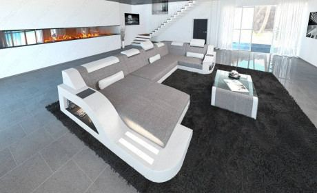 Fabric Sofa Detroit U Shape LED