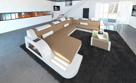 Fabric Sofa Detroit XL Shape LED