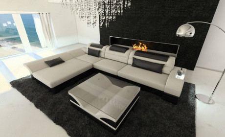 Fabric Sofa Atlanta L Shape LED