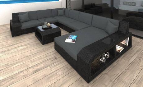 Patio Furniture Outdoor Sofa Houston in gray