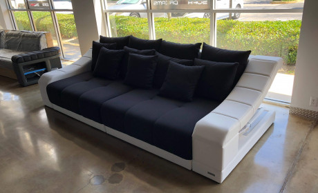 Big Fabric Sofa New York with Lights