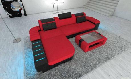 Mega Sectional Fabric Sofa Boston L with LED