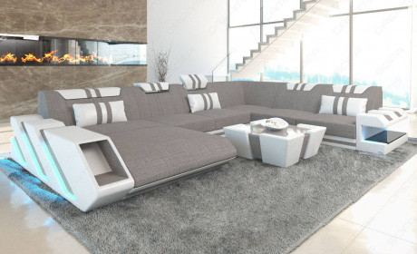 Fabric Sofa New Jersey XL Shape LED with USB connection