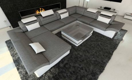 Fabric Design Sofa Atlanta XL with LED