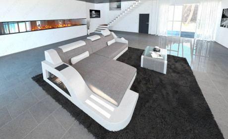 Fabric Sofa Detroit L Shape LED