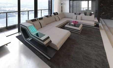 Fabric Sofa Hollywood XL Shape LED with USB connection