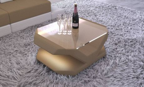 Fabric Coffee Table Beverly Hills with LED