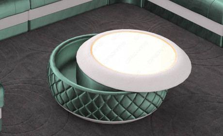 Fabric coffee table Charlotte