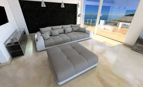 Fabric Big Sofa Miami with LED