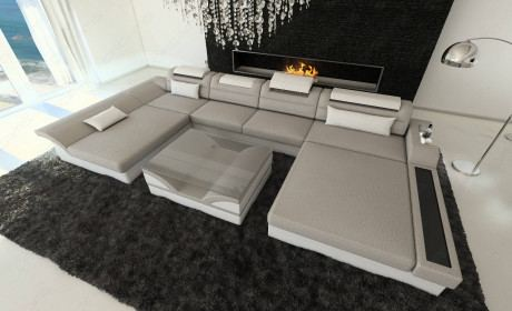 Fabric Sectional Sofa Chicago LED
