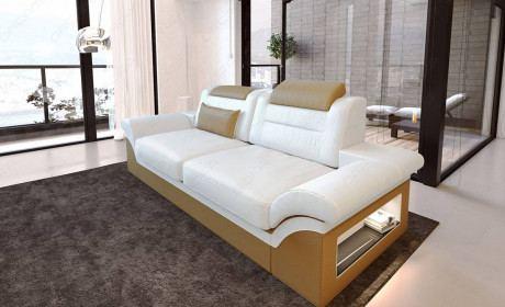 Leather Sofa Atlanta 2 Seater in white - beige