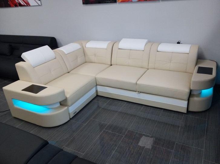 Design Sectional Denver L Shaped with USB and Led Lights