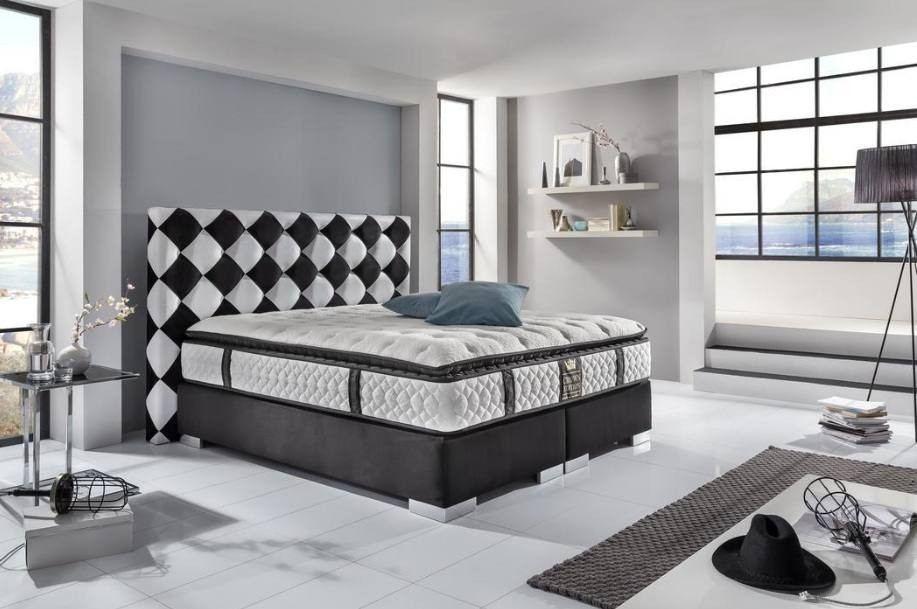 box spring bed Cosmopolitan modern in black-white