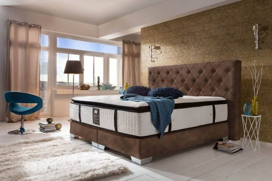 Boxspringbed Residence modern chocolate brown