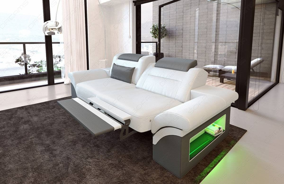 Leather Sofa Atlanta 2 Seater with LED
