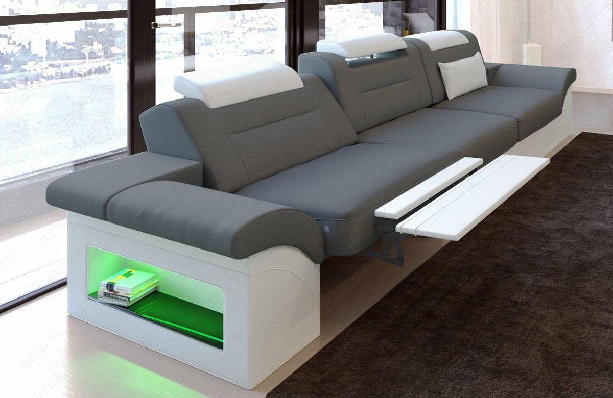 Fabric Three Seater Atlanta With Led Fabric Sofas