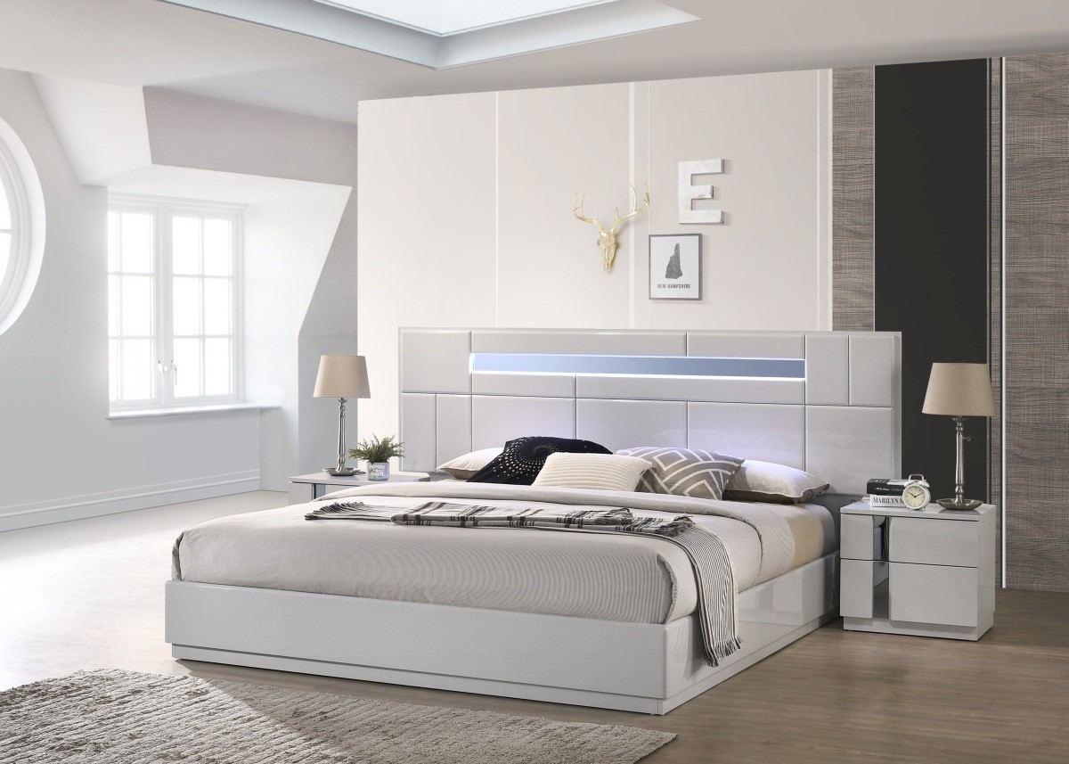 Premium Bedroom Set With Led Lighting Catania Sofadreams
