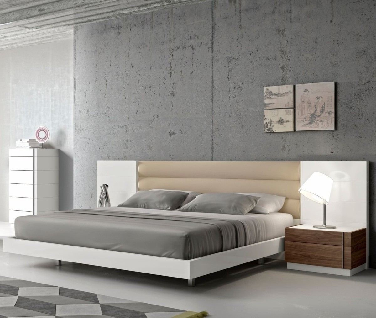 Beige And White Luxury Bedroom Furniture Set Vincenza Sofadreams