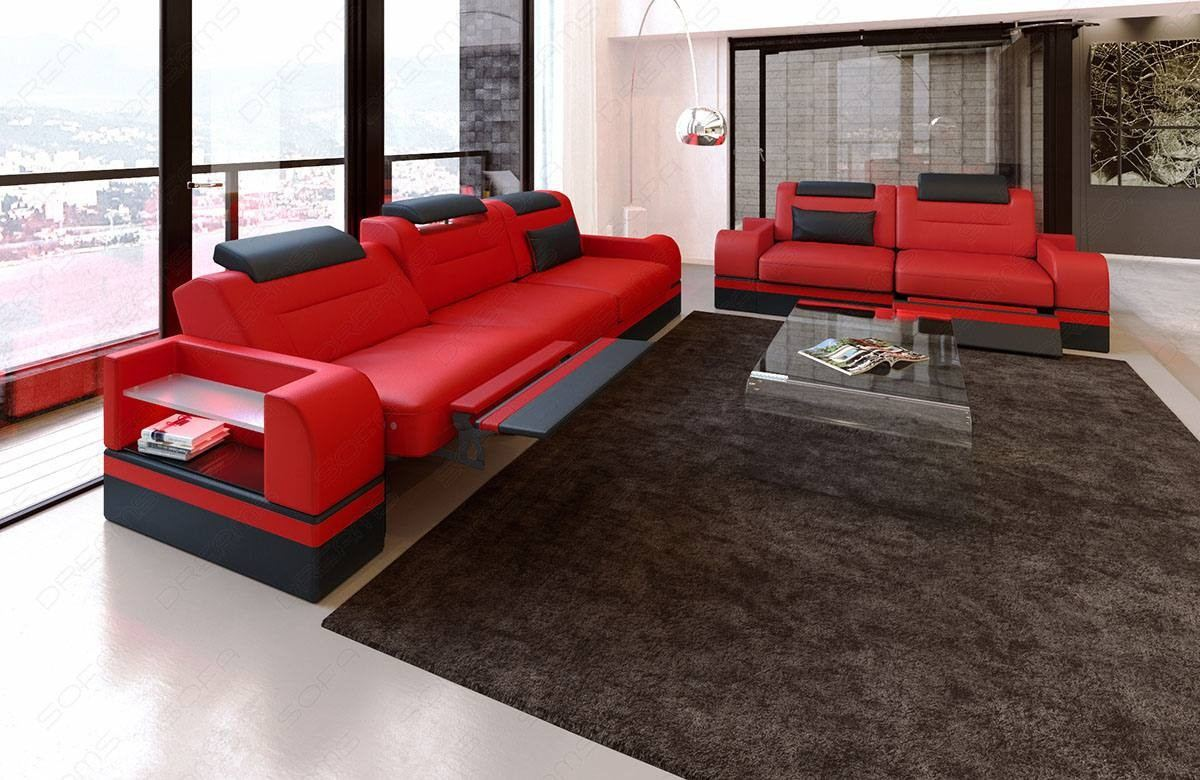 sofa set 3 and 2 seater orlando led leather sectional sofas