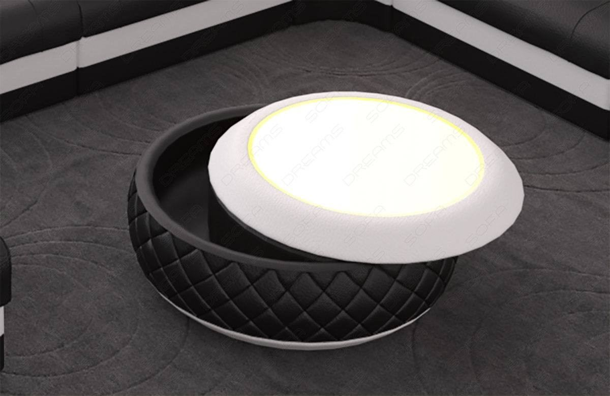 coffee table charlotte leather - leather coffee tables