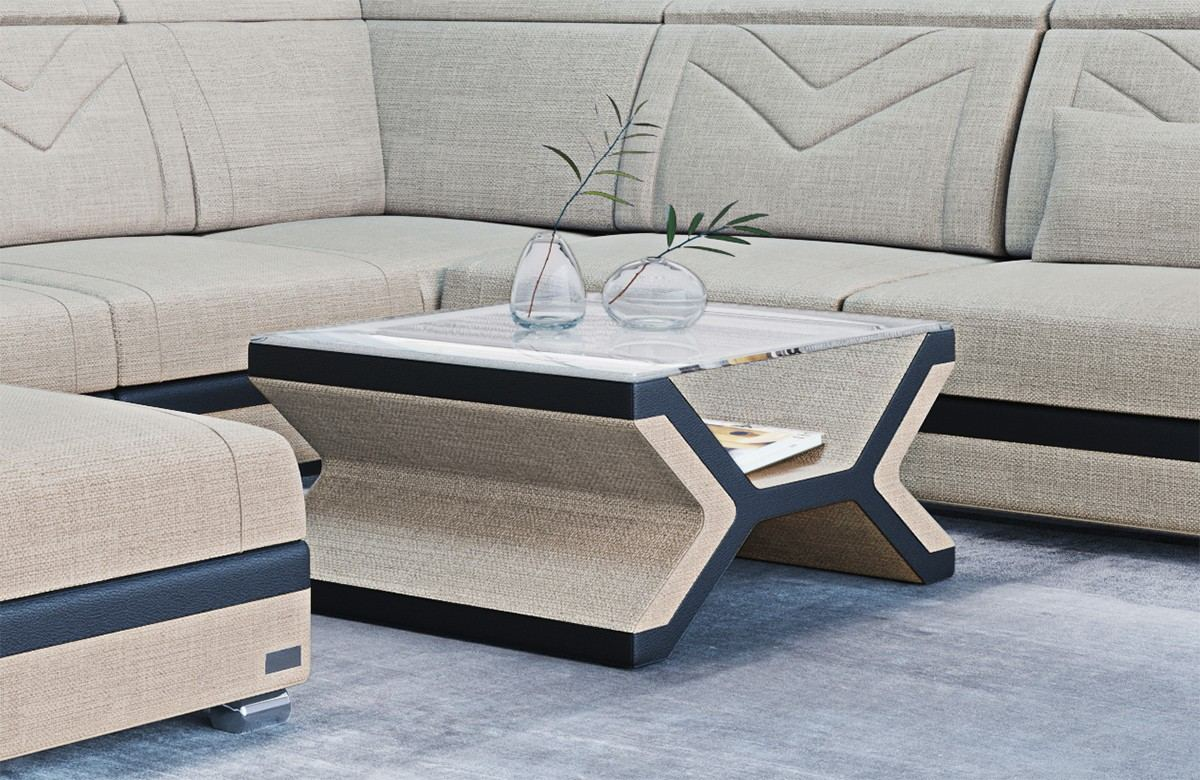 Fabric Coffee Table San Francisco With Gl Plate