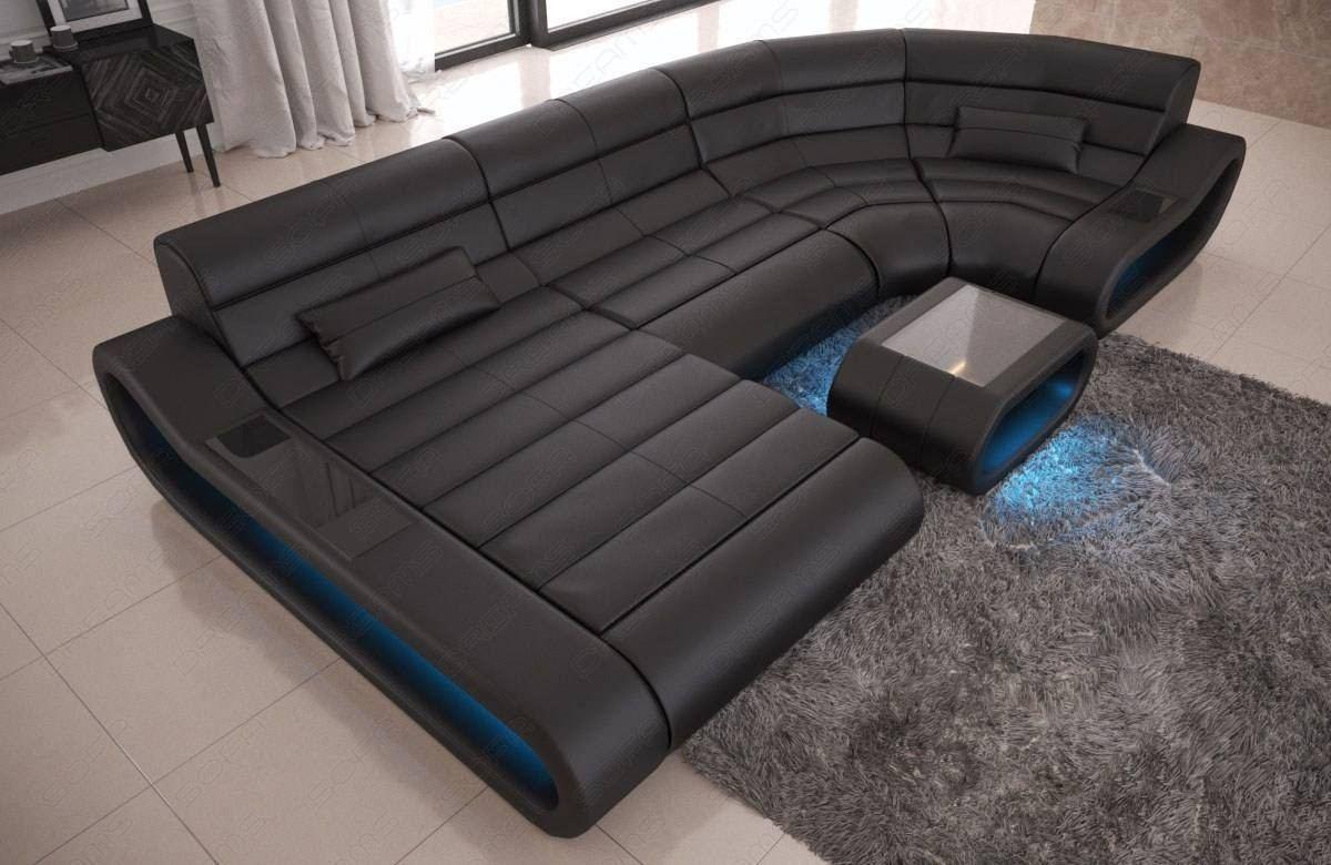 Modular Leather Sofa Concept U Shape