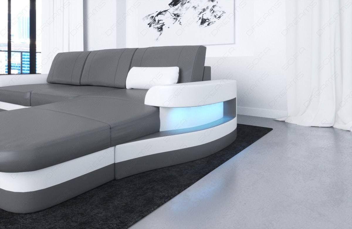 Leather Corner Sofa Tampa with USB