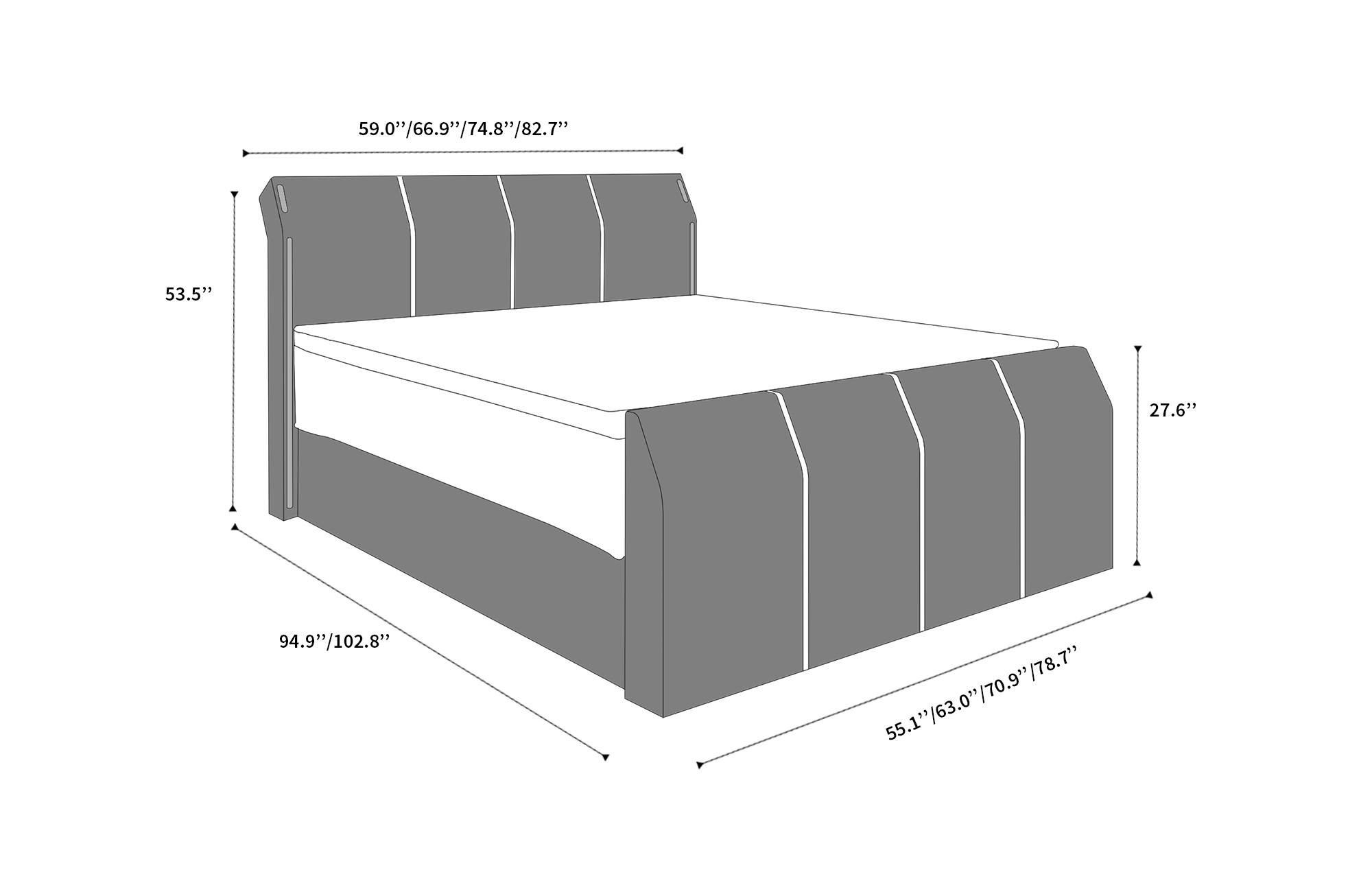 Sensational Leather Box Spring Bed Clayton With Premium Mattress Bralicious Painted Fabric Chair Ideas Braliciousco