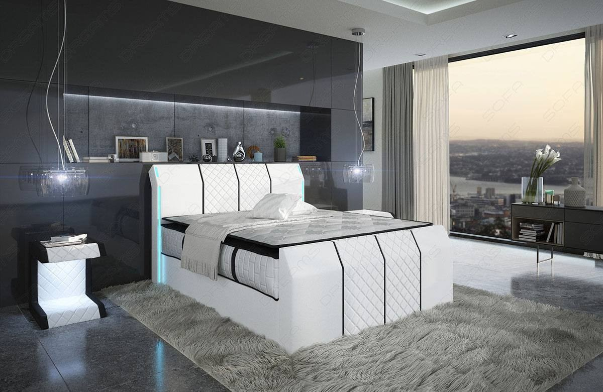 Pleasing Leather Box Spring Bed Clayton With Premium Mattress Bralicious Painted Fabric Chair Ideas Braliciousco