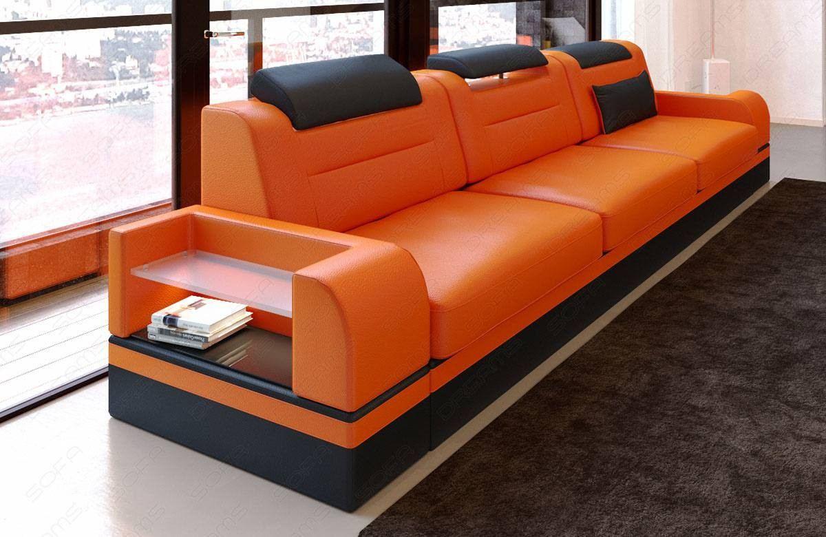 3 Seat Leather sofa Orlando LED