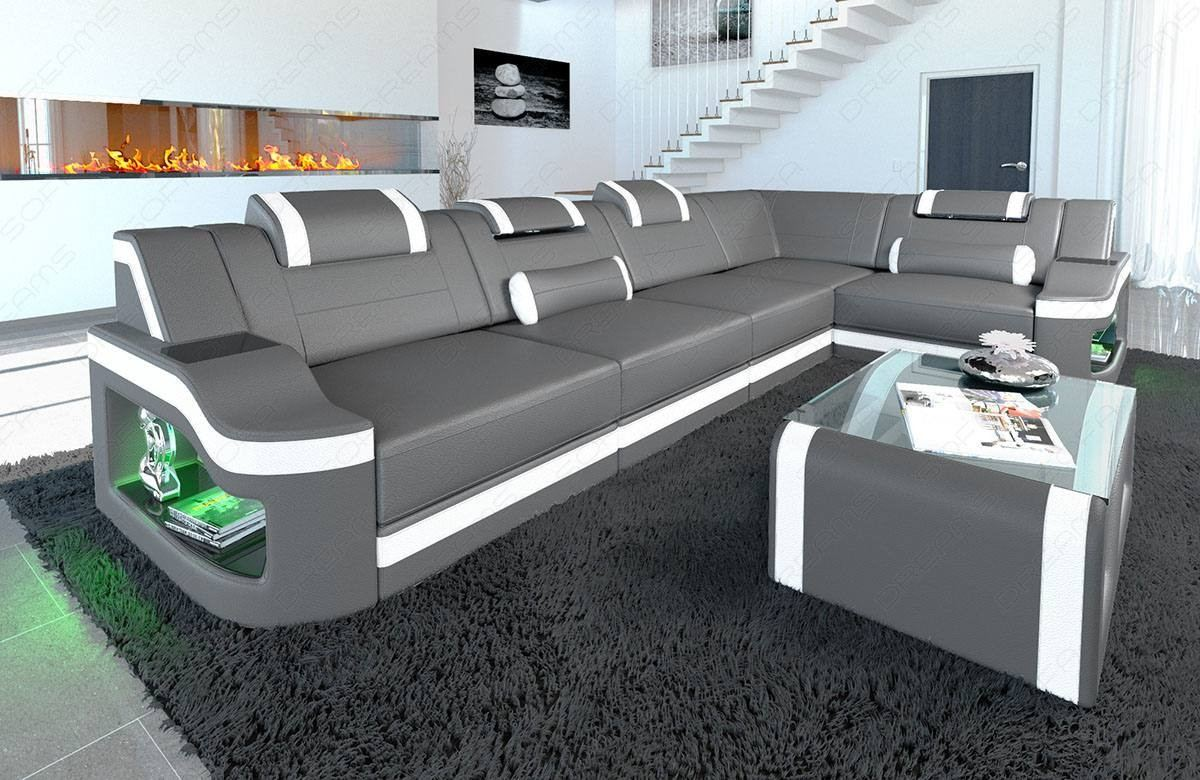 Leather Corner Sofa Manhattan