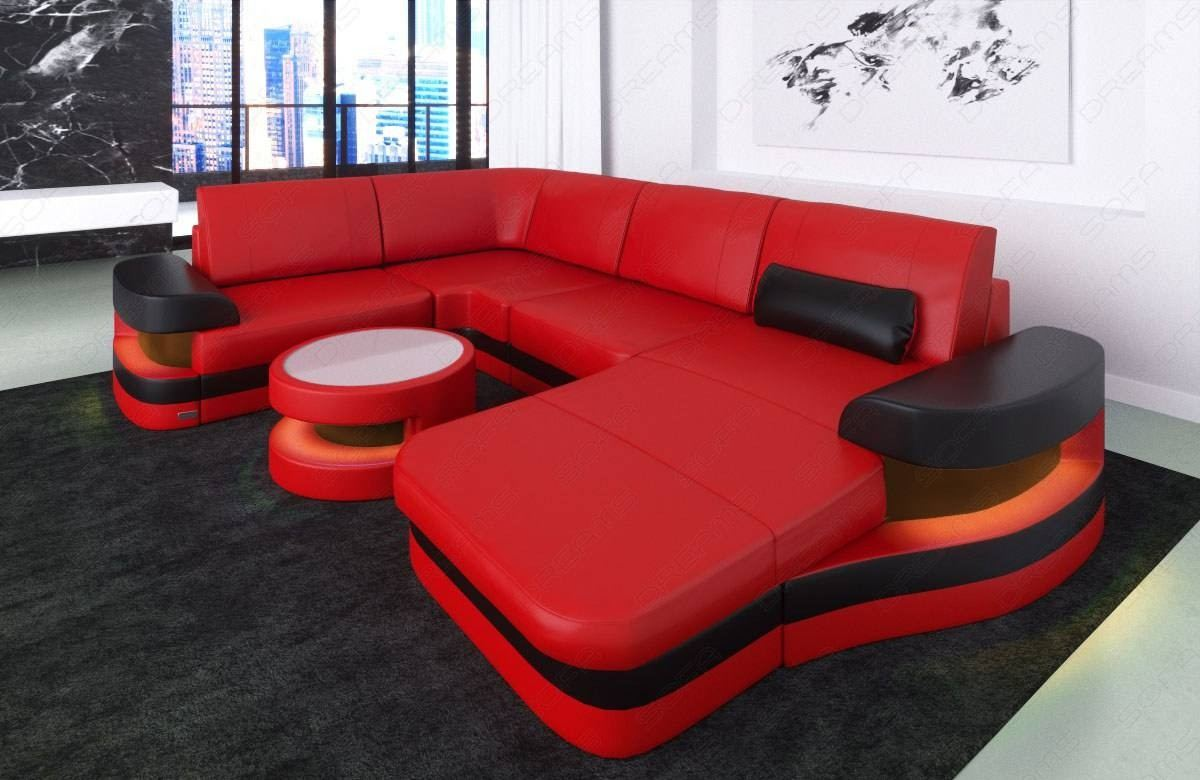 Modern Leather Sofa Tampa U Shape