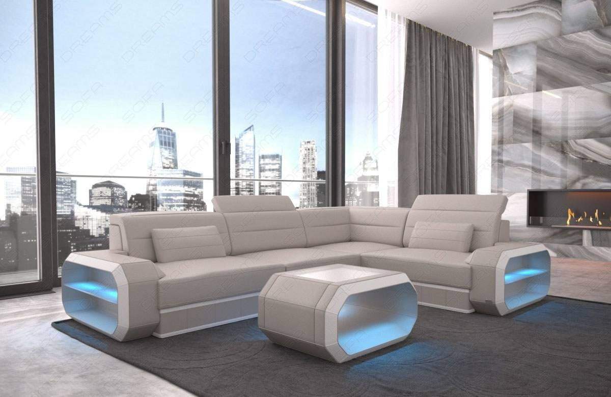 Small Leather Sectional Sofa Seattle LED
