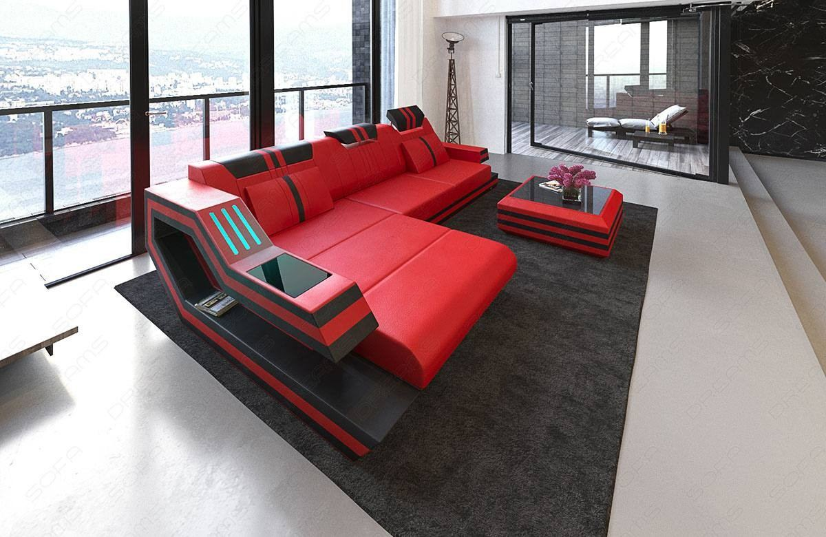 Luxury Sectional Sofa Hollywood L Shape with LED and USB