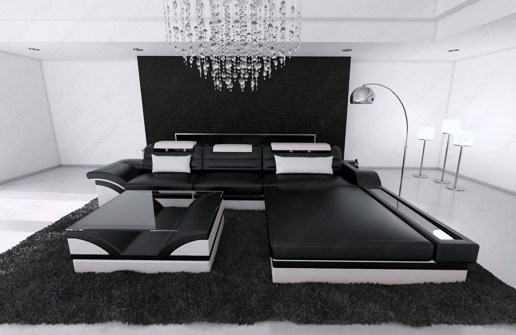 Modern Corner Sofa Orlando Led L Shaped Small