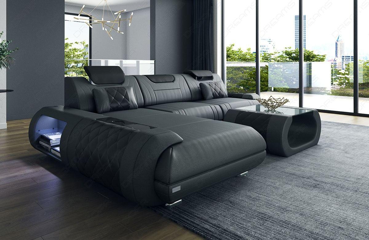 Ventura Leather Corner Sofa Sofadreams