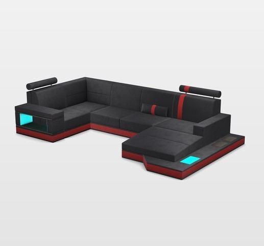 Outstanding Design Sectional Los Angeles U Shaped With Usb And Led Lights Machost Co Dining Chair Design Ideas Machostcouk