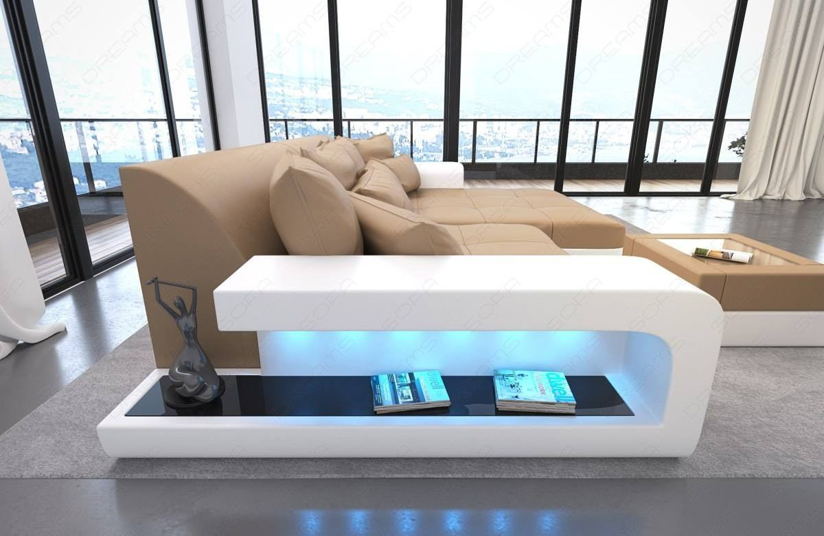 Big Leather Sofa San Diego with LED