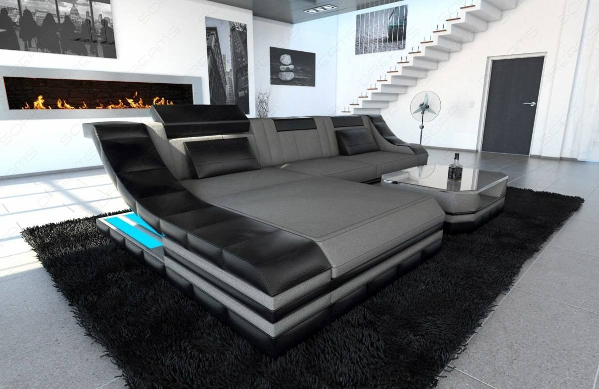 Fabric Design Sofa New York L With Led