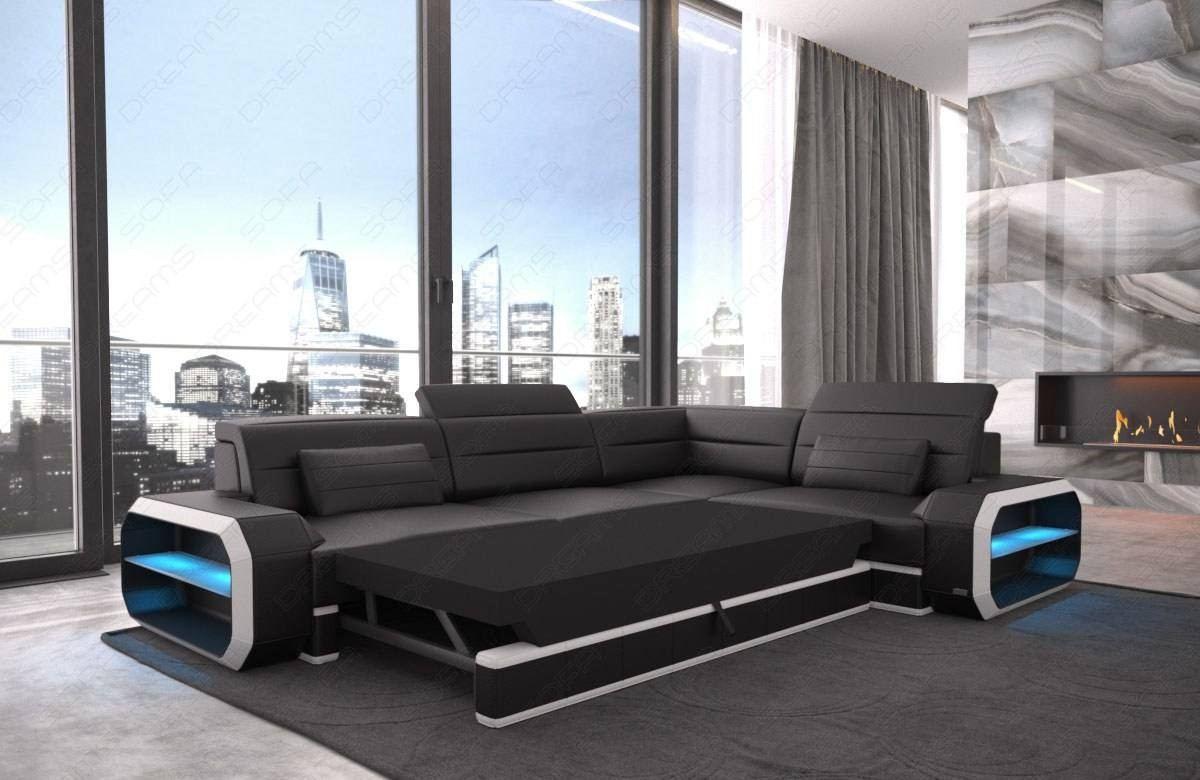 Modern Fabric Sectional Sofa Seattle LED